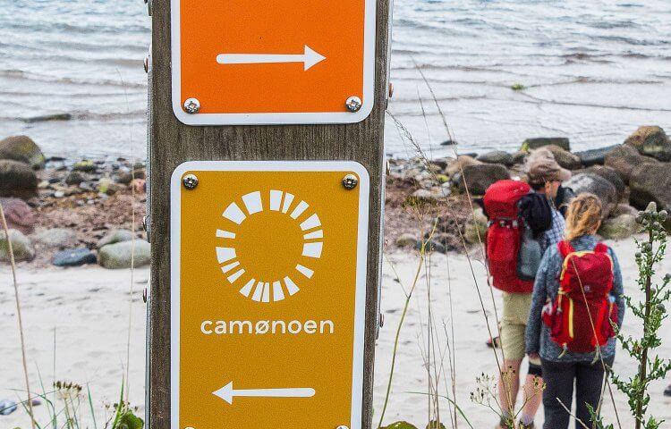 Camønoen vandrerute - billede af Camønoskilt